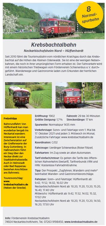 Flyer Museumsbahnen